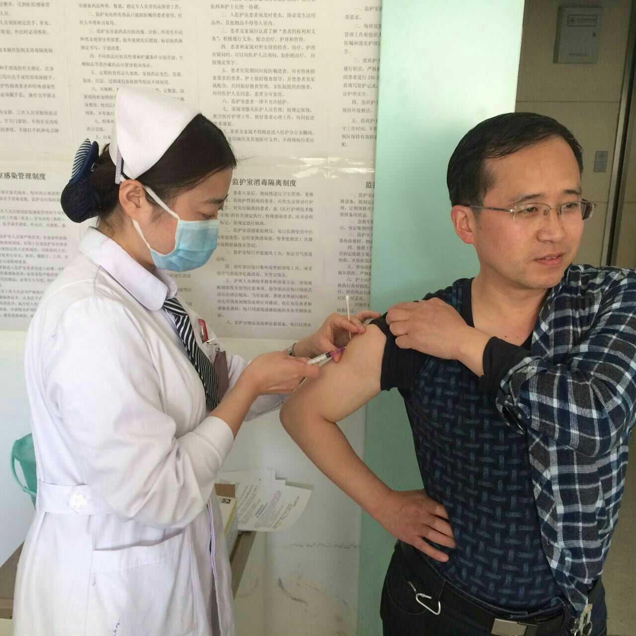 医务人员接种 麻风疫苗